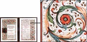 Detail of diploma