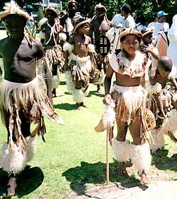 children in native costumes
