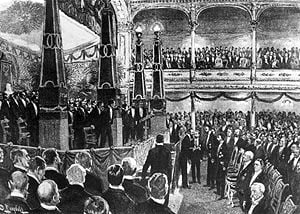 The first Nobel Prize Award Ceremony was held in 1901 at the Royal Academy of Music, Stockholm.
