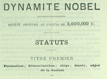 Statutes of Dynamite Nobel