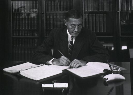Herbert S. Gasser in his office