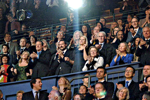 Al Gore and Rajendra K. Pachauri among the audience at the Nobel Peace Prize Concert