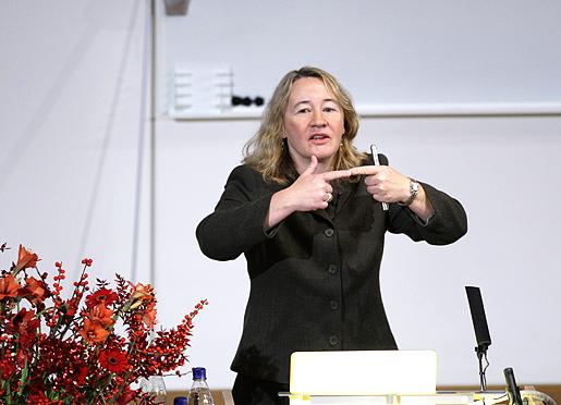 Carol W. Greider delivering her Nobel Lecture