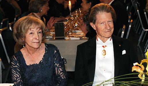 Sir John B. Gurdon and Mrs Sedna Quimby Wineland at the Nobel Banquet
