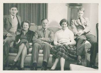 My cousin, Phil Gurdon; my mother, Elsie Marjorie Gurdon (nee Byass); my father, William Nathaniel Gurdon; my sister, Caroline Thompson (nee Gurdon); Myself, about 1960.
