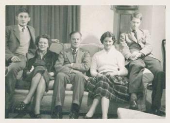 My cousin, Phil Gurdon; my mother, Elsie Marjorie Gurdon (nee Byass); my father, William Nathaniel Gurdon; my sister, Caroline Thompson (nee Gurdon); Myself, about 1960.