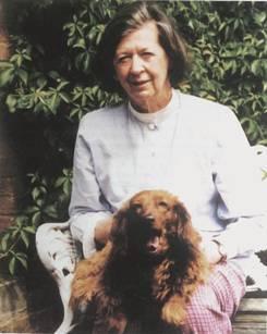 Jean Gurdon in the Master's Lodge, Magdalene College, Cambridge, 2000.