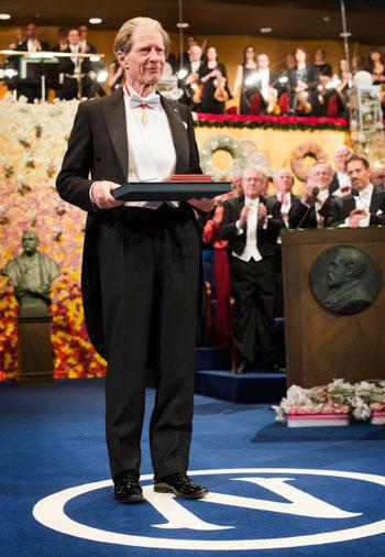 Sir John B. Gurdon after receiving his Nobel Prize at the Stockholm Concert Hall