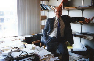 The Author in his office.