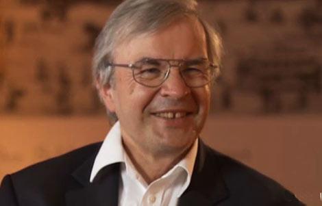 Theodor Hänsch during the interview in Lindau