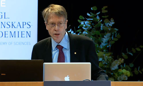 Lars Peter Hansen delivering his Prize Lecture