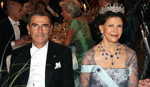 Serge Haroche and Queen Silvia of Sweden at the Nobel Banquet, 10 December 2012