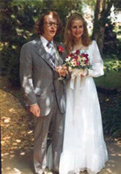 Marriage to Rita, June 1974.