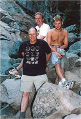 With my sons Daniel and Benjamin in New Hampshire, summer 2001.