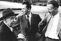 Otto Haxel, Walter Bothe and Hans Geiger
