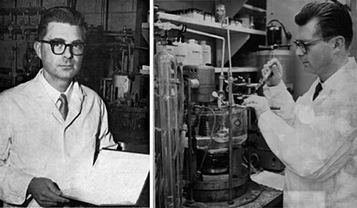 Richard F. Heck in the laboratory