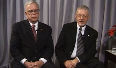 James J. Heckman and Daniel L. McFadden during the interview