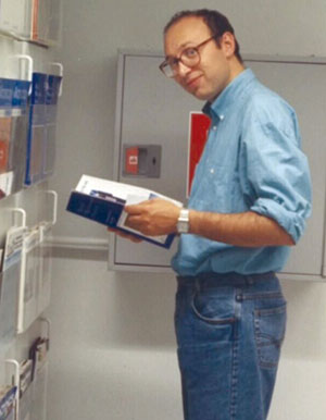 Stefan Hell at the Department of Medical Physics in Turku, Finland in 1993, at about the time of conception of STED microscopy.
