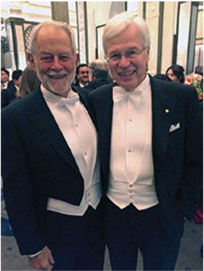 With my advisor Bob Wilson at the Nobel ceremonies.
