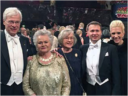 With my family at the Prize Ceremony 2016.