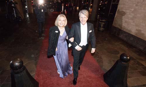 Robert J. Shiller and Mrs Virginia Shiller arrive at the Nobel Banquet at the Stockholm City Hall on 10 December 2013.