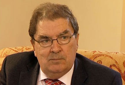 John Hume during the interview