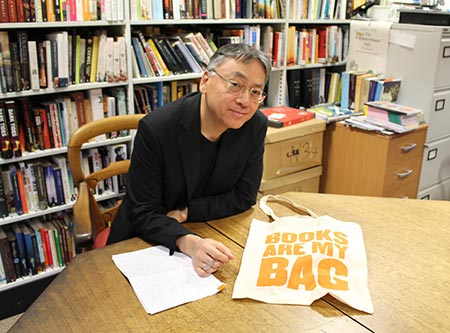 Kazuo Ishiguro at a booklaunch