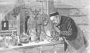 Pasteur in his lab