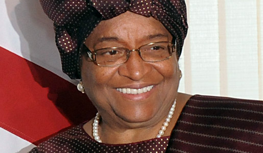 2011 Nobel Peace Prize Laureate Ellen Johnson-Sirleaf, President of Liberia, during a state visit to Brazil, April 2010