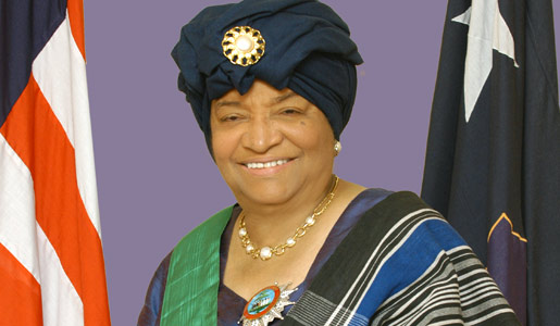 Ellen Johnson Sirleaf, 24th President of Liberia.