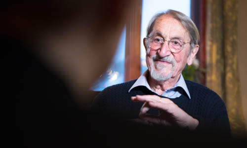 Martin Karplus during the interview with Nobelprize.org