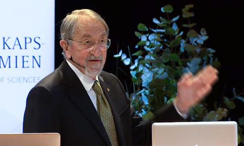Martin Karplus delivering his Nobel Lecture