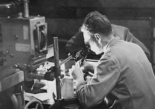 Bernard Katz in the laboratory