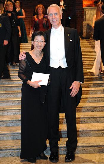 Brian K. Kobilka with wife Tong Sun Kobilka at the Nobel Banquet