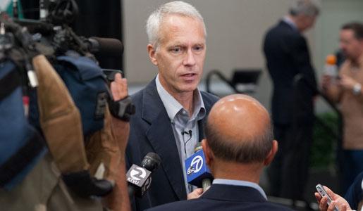Brian K. Kobilka meeting the press