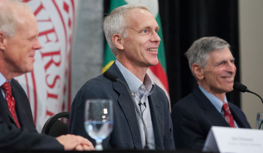 Brian K. Kobilka at the press conference after the announcement of the 2012 Nobel Prize in Chemistry