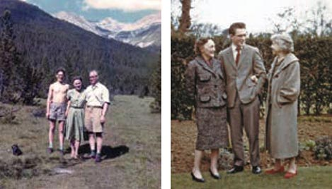 Mike and parents in the Austrian Alps. Mike with mother and paternal grandmother.