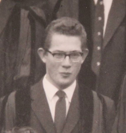 Michael Kosterlitz in his youth. Courtesy Gonville & Caius College Archive, University of Cambridge