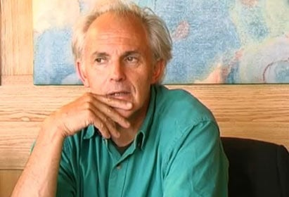 Harold Kroto during the interview in Lindau, 2000.