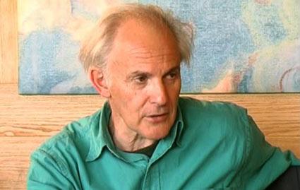 Harold Kroto during the interview in Lindau, 2000.