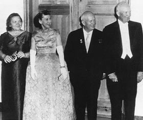 Khrushchev, Eisenhower and their wives