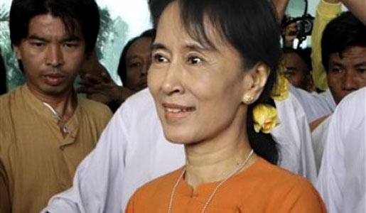 Aung San Suu Kyi, political activist and Nobel Peace Prize Laureate.