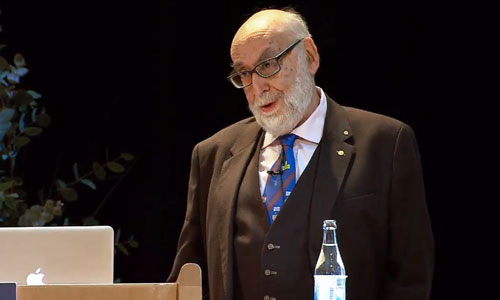 François Englert delivering his Nobel Lecture
