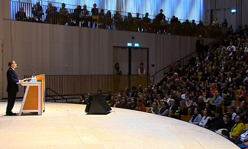 Randy W. Schekman delivering his Nobel Lecture