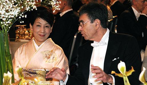 Robert J. Lefkowitz and Dr Chika Yamanaka at the Nobel Banquet