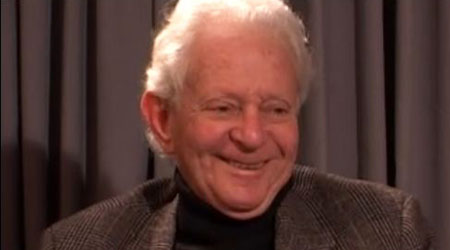 Leon Lederman during the interview