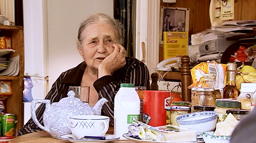 Doris Lessing during the interview
