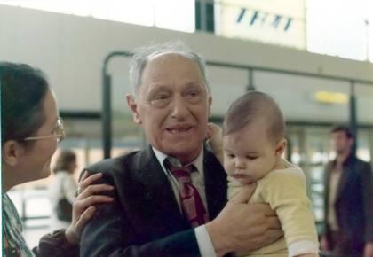 Rina, Nathan and Adam Levitt, in England, 1976.