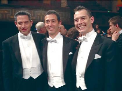 Daniel, Reuven and Adam Levitt at the Nobel Banquet in Stockholm 10 Dec. 2013.