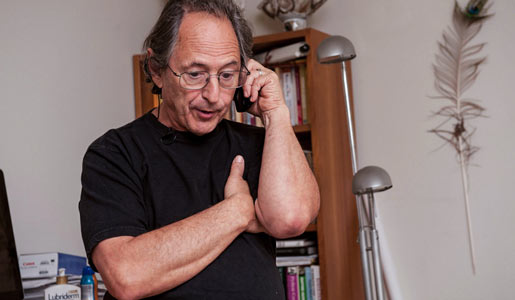 Michael Levitt shares the news about the Nobel Prize in Chemistry, early in the morning on 9 October.